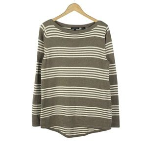 JEANNE PIERRE | Tan & Cream Striped Sweater